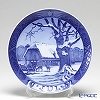 Royal Copenhagen Collectibles 'Christmas in Forest' 1952 Christmas Plate 18cm