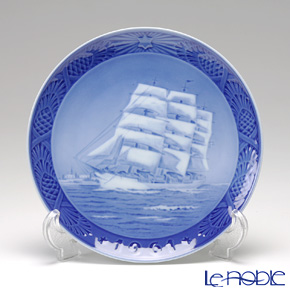 Royal Copenhagen Christmas Plate 1961 - 'Training Ship Denmark'