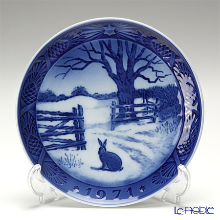 Royal Copenhagen Christmas Plate 1971 - 'Hare in Winter'