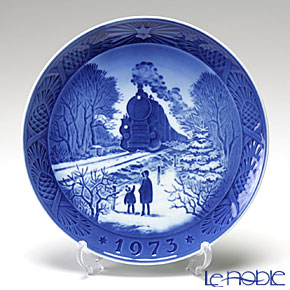 Royal Copenhagen Christmas Plate 1973 - 'Train Homeward Bound'