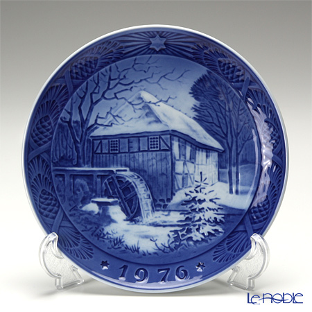 Royal Copenhagen Christmas Plate 1976 - 'Vibaek Mill'