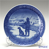 Royal Copenhagen Christmas Plate 1977 - 'Immervad Bridge'