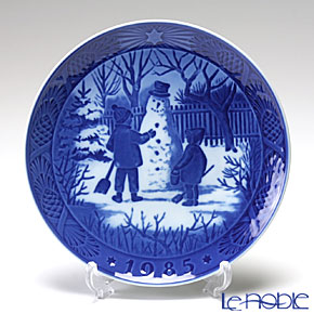 Royal Copenhagen Christmas Plate 1985 - 'The Snowman'