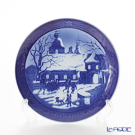 Royal Copenhagen Collectibles 'The Manor House' 1995 Christmas Plate 18cm