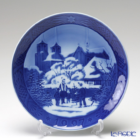 Royal Copenhagen Christmas Plate 1997 - 'Roskilde Cathedral'