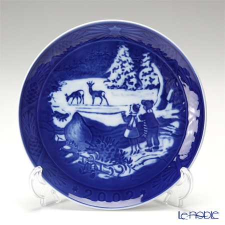 Royal Copenhagen Collectibles 'Winter in the Forest' 2002 Christmas Plate 18cm
