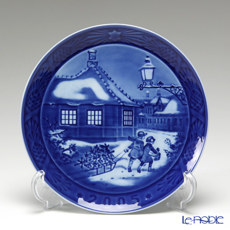 Royal Copenhagen Collectibles 'Hans Christian Andersen House' 2005 Christmas Plate 18cm