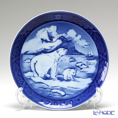 Royal Copenhagen Christmas Plate 2010 - 'Christmas in Greenland'