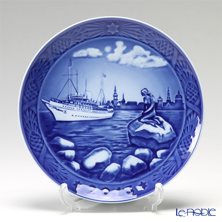Royal Copenhagen Christmas Plate 2013 - 'Copenhagen harbour'