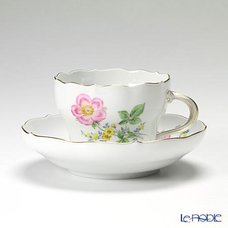 マイセン(Meissen) ビンテージフラワー2 04c003/00582 コーヒーカップ&ソーサー 200cc 野バラ