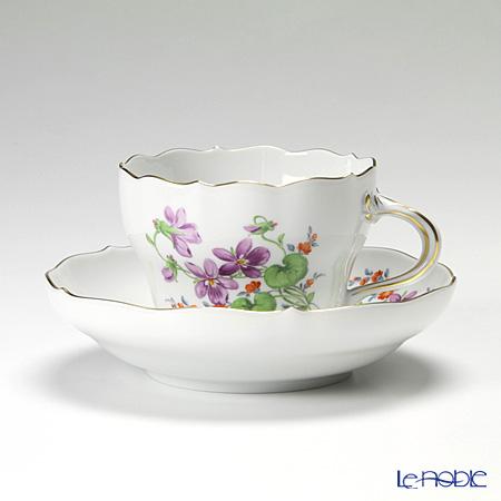 マイセン(Meissen) ビンテージフラワー2 04c004/00582 コーヒーカップ&ソーサー 200cc スミレ