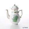 Herend 'Qing Flower Basket Green / Corbeille de Noces' CN 00614-0-09 Mocha Coffee Pot (Rose knob) 600ml