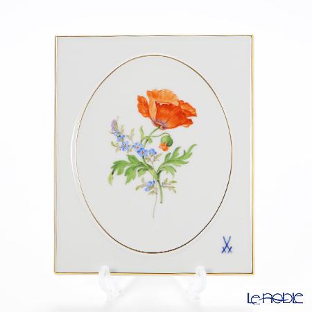 マイセン(Meissen) ベーシックフラワー(二つ花) 040110/53n32/09 陶板 18×15cm Motiv No.9 ヒナゲシ