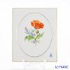 Meissen 'Basic Flower - Papaver Rhoeas Poppy (2 Flowers)' [Motif No.9] 040110/53N32/9 Wall Plate / Plaque 15x18cm