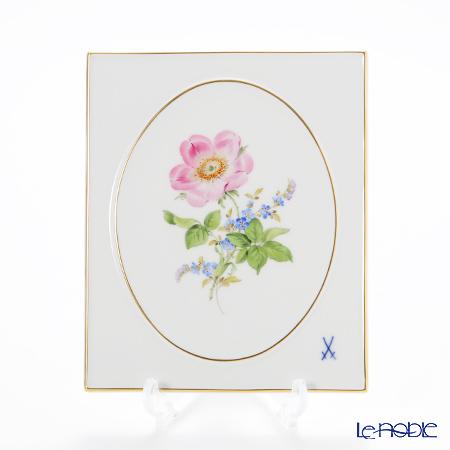 マイセン(Meissen) ベーシックフラワー(二つ花) 040110/53n32/13 陶板 18×15cm Motiv No.13 野バラ