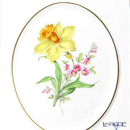 マイセン(Meissen) ベーシックフラワー(二つ花) 040110/53n32/26陶板 18×15cm Motiv No.26 水仙