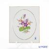 マイセン(Meissen) ベーシックフラワー(二つ花) 040110/53n32/34陶板 18×15cm Motiv No.34 スミレ