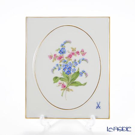 マイセン(Meissen) ベーシックフラワー(二つ花) 040110/53n32/35 陶板 18×15cm Motiv No.35 忘れな草