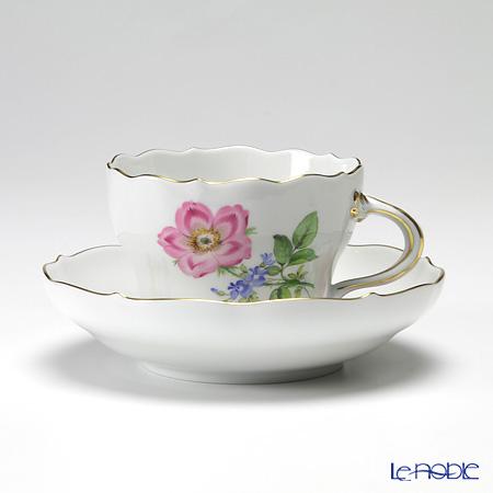 マイセン(Meissen) ベーシックフラワー(二つ花) 040110/00582/13 コーヒーカップ&ソーサー 200cc Motiv No.13 野バラ