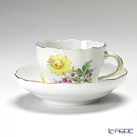 マイセン(Meissen) ベーシックフラワー(二つ花) 040110/00582/25 コーヒーカップ&ソーサー 200cc Motiv No.25 マーガレット