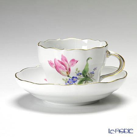 マイセン(Meissen) ベーシックフラワー(二つ花) 040110/00582/33 コーヒーカップ&ソーサー 200cc Motiv No.33 チューリップ
