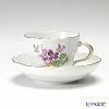 マイセン(Meissen) ベーシックフラワー(二つ花) 040110/00582/34コーヒーカップ&ソーサー 200cc Motiv No.34 スミレ
