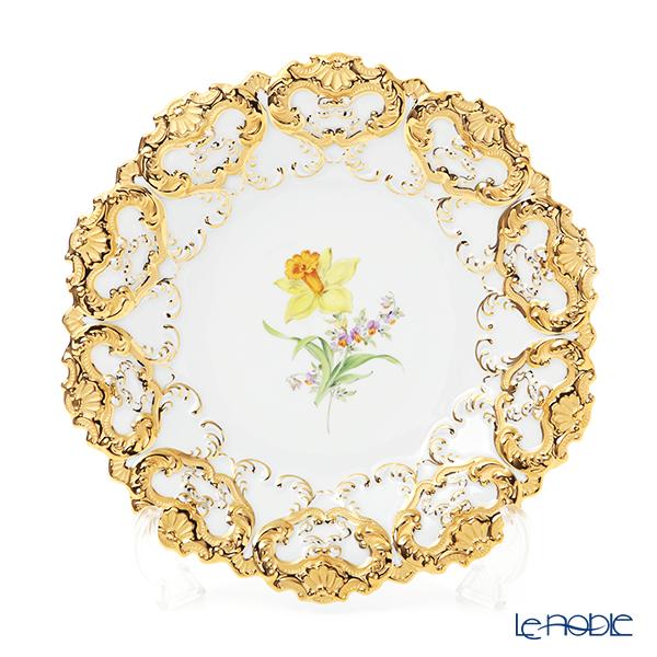 マイセン(Meissen) 040199/54101(54m02)/26 飾り皿(二つ花) 27cm Motiv No.26 スイセン