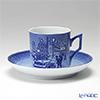 Royal Copenhagen Collectibles 'Hans christian Andersen' 1911414 [2014] Christmas Cup & Saucer 150ml