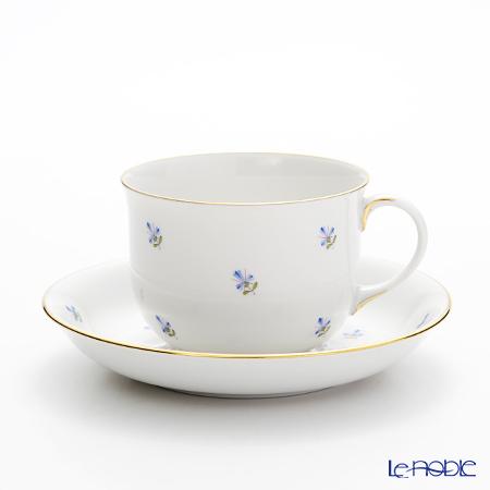 アウガルテン(AUGARTEN) スキャタードコーンフラワー(5010) コーヒーカップ&ソーサー 0.2L(001シューベルトシェイプ)