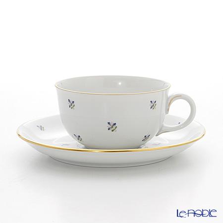 アウガルテン(AUGARTEN) スキャタードコーンフラワー(5010) ティーカップ&ソーサー(S) 0.2L(001シューベルトシェイプ)