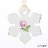 Augarten 'Christmas Collection - Wiener (Viennese) Rose' Snowflake Ornament