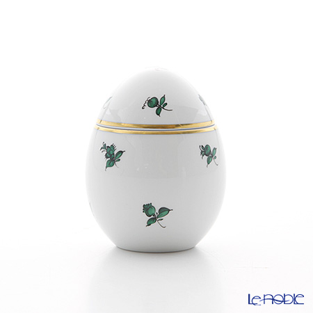 Augarten 'Green Scatterd Flowers' Standing Egg Box H8cm