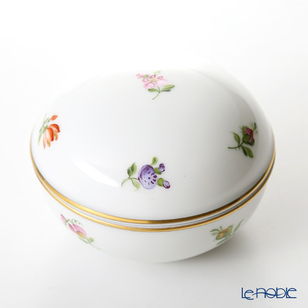 Augarten 'Multicoloured Scattered Flowers' Round Jewelry Box