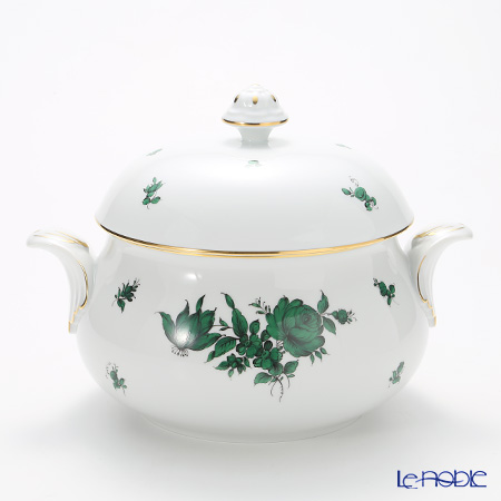 Augarten 'Maria Theresia' Green Soup Tureen 2000ml [Schubert shape]