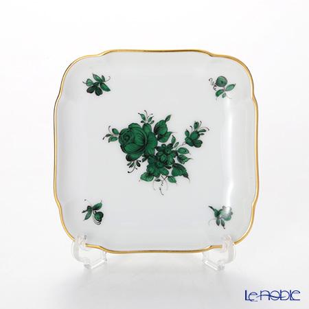 Augarten 'Maria Theresia' Green Square Dish 9x9cm