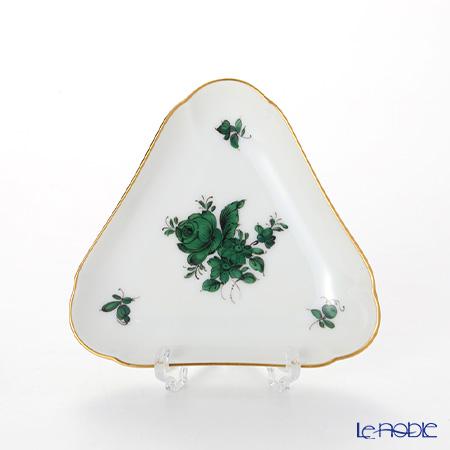 Augarten 'Maria Theresia' Green Triangle Dish 10.5cm