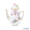 Herend 'Mediterranean Garden / Jardin Mediterraneen (Flower Ribbon Bird)' JM 20615-0-09 Mocha Coffee Pot (Rose knob) 400ml