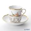 Herend Mediterranean Garden / Jardin Mediterraneen JM 20713-0-00 Chocolate Cup & Saucer with holder