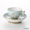 Herend Four Seasons / Quatre Saisons QS 03371-0-21 Mocha Cup & Saucer (Mandarin handle / openwork) 100ml