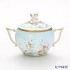 Herend 'Four Seasons / Quatre Saisons (Flower)' Blue QS 20472-0-06 Covered Sugar Pot (Twisted knob) 200ml