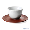 Meissen 'Successive Relief - Woven Bamboo' [1986] 55956/85666 Japanese Tea Cup & Stoneware Saucer 75ml