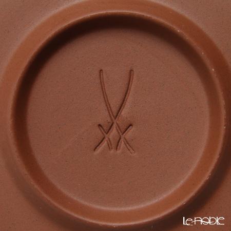 マイセン(Meissen) 歴代レリーフ 55958/85670白磁カップ&ベットガーセッ器ソーサー 1988年発表 組紐模様