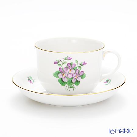 アウガルテン(AUGARTEN) バイオレットブーケ(5600) コーヒーカップ&ソーサー 0.2L (001シューベルトシェイプ)