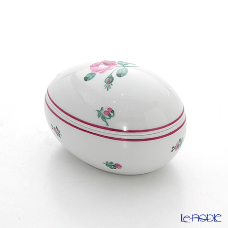 Augarten Old Viennese Rose Egg Shape Box, 5784/606