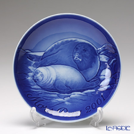 Bing & Grondahl 'Seal with Baby' 2001 Mother's Day Plate 15cm