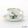 Augarten 'Prince Eugene' Green Coffee Cup & Saucer 200ml [Schubert shape]