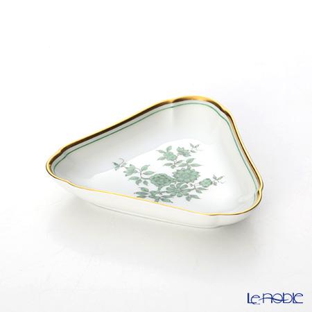 Augarten 'Prince Eugene' Green Triangle Dish 10.5cm
