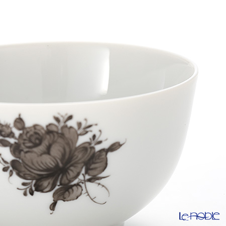 Augarten 'Maria Theresia Simple' Gray Tea Bowl / Japanese Tea Cup