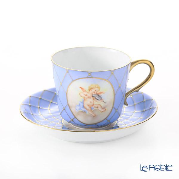 ヘレンド フンボルト SP 03929-0-00 ティーカップ&ソーサー(ブルー)【D】