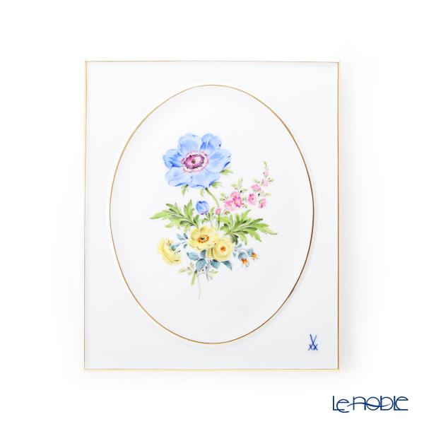 マイセン(Meissen) ベーシックフラワー 三つ花(アネモネ) 陶板 25×20cm 060110/53n31/1
